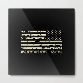 USS Newport News Metal Print