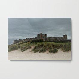Bamburgh from the Beach Metal Print