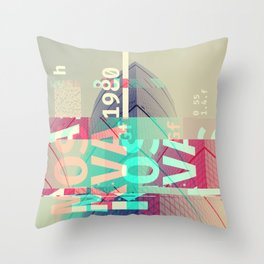 GLITCH CITY #12: Moskva Throw Pillow