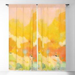 abstract spring sun Blackout Curtain