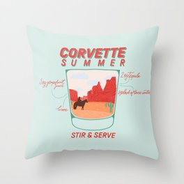 Tequila Cocktail Throw Pillow