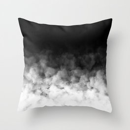Ombre Black White Minimal Throw Pillow