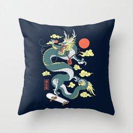 Hip Hop Dragon Throw Pillow
