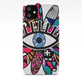 Greek Evil Eye Groovy Flower iPhone Case