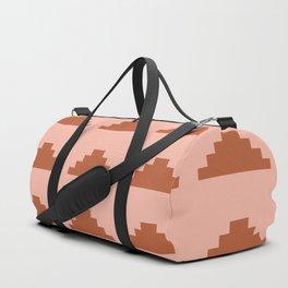 Minimal Pyramids - Terracotta Duffle Bag