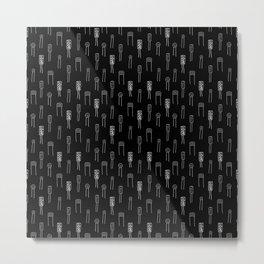 Capacitors - White on Black Metal Print