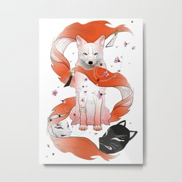 Red Kitsune Metal Print