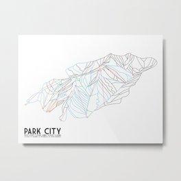 Park City, UT - Minimalist Trail Art Metal Print