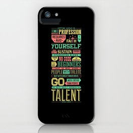 Lab No. 4 Getting Ahead Sophia Loren Motivational Quotes iPhone Case