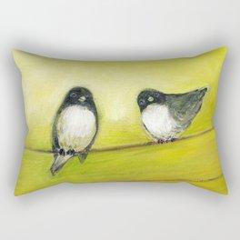 Three Birds on a Wire No 2 Rectangular Pillow