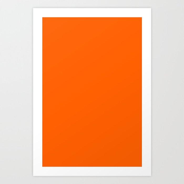 Solid Orange Kunstdrucke