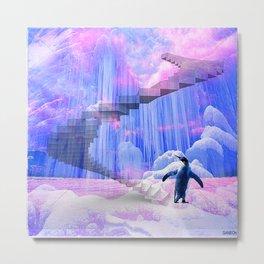 Pingouin sur la banquise  Metal Print