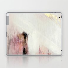 Sunrise [2]: a bright, colorful abstract piece in pink, gold, black,and white Laptop & iPad Skin