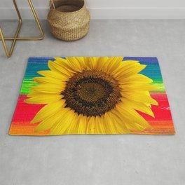 Gradient sunflower Rug