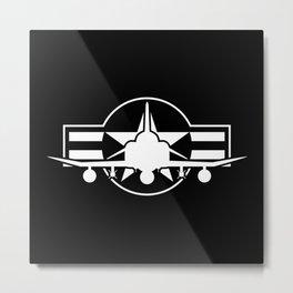 F-4 Phantom II Military Fighter Jet Airplane Metal Print