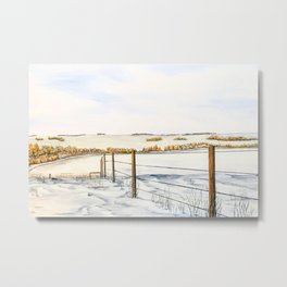Alberta Prairie winter landscape Metal Print