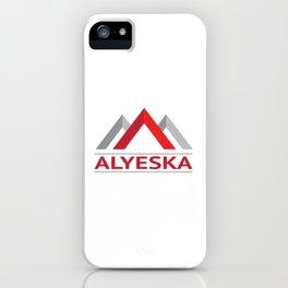 Alyeska Alaska Ski Snowboard Skiing Trail Map Resort Anchorage Valdez iPhone Case