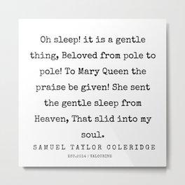 60     | Samuel Taylor Coleridge Poems | 200207 Metal Print