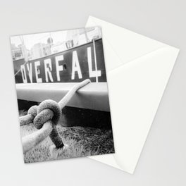 Ropes of Overfalls Lightship Black and White Photograph Stationery Cards