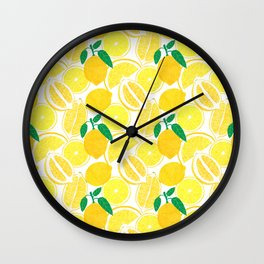 Lemon Harvest Wall Clock