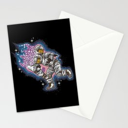 Rugby Astronaut Slam Stationery Cards