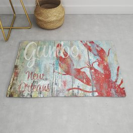 New Orleans Gumbo Sign Rug