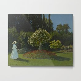Lady in the Garden Metal Print