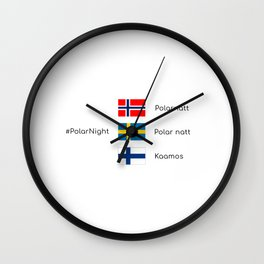 Polar nights Wall Clock