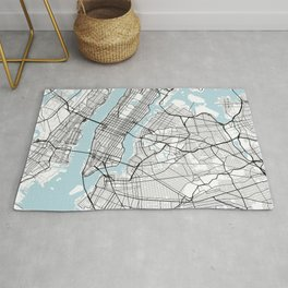 New York City Map of the United States - Circle Rug