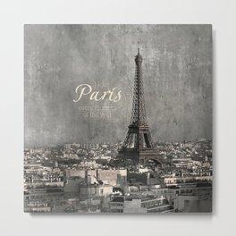 I love Paris {bw Metal Print