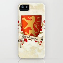 King's Champion - Lioness Shield iPhone Case