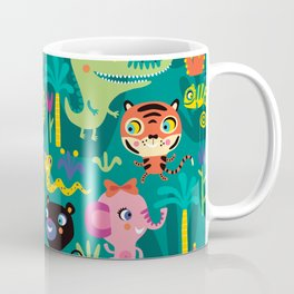 Jungle Animals Kids Animal Safari Pattern Coffee Mug