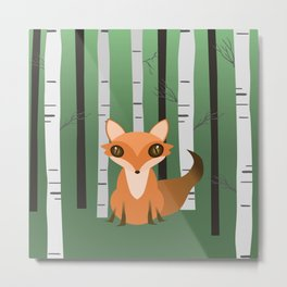A fox in the woods Metal Print