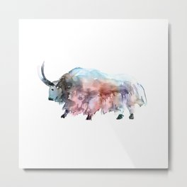 Wild yak 2 / Abstract animal portrait. Metal Print