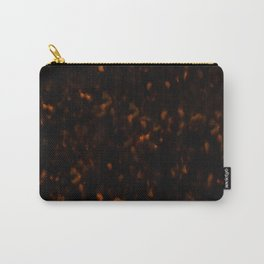 Dark Tortoise Shell Pattern Carry-All Pouch