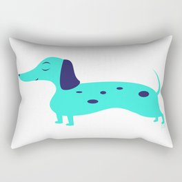Dapple Dachshunds Love: Inky Rectangular Pillow