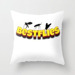 Bestflies insect friends Throw Pillow