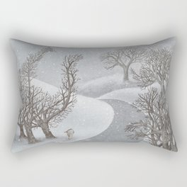 The Night Gardener - Winter Park Rectangular Pillow