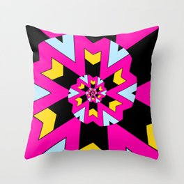 Trippy Spiral Pattern Throw Pillow