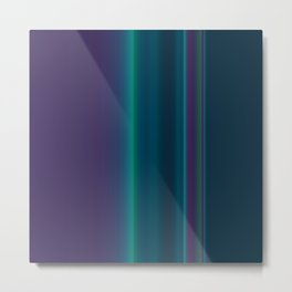 Royal Purple Aqua Stripes Metal Print