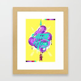 Fuck You - Flume Framed Art Print
