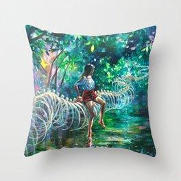 Dopamine Jungle Throw Pillow