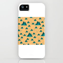 Mountain Outdoor Geometric Shaped Pattern iPhone Case