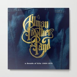 A Decade of Hits 1969 - 1979 by The Allman Brothers Band - Vectorized Metal Print