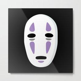 No Face Mask Metal Print