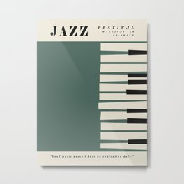 Vintage poster-Jazz festival-Willisau 76. Metal Print