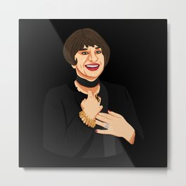 Patti in Black Metal Print