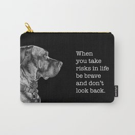 Silver Ridgeback, don't look back Carry-All Pouch