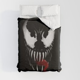 Venom, Spider man Enemie Duvet Cover