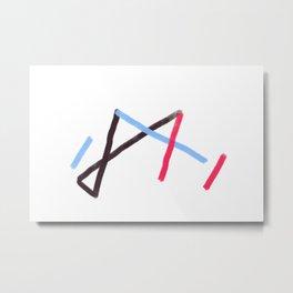 Abstract Language 02 Metal Print